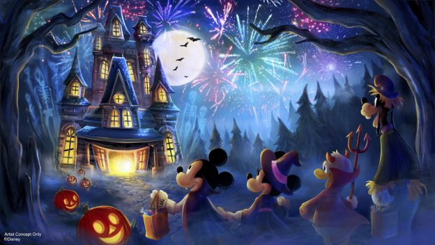 New Fireworks Show for Mickey's Not-So-Scary Halloween Party!