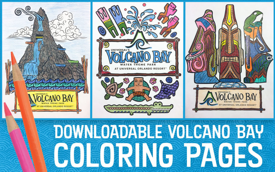 Downloadable Volcano Bay Coloring Pages