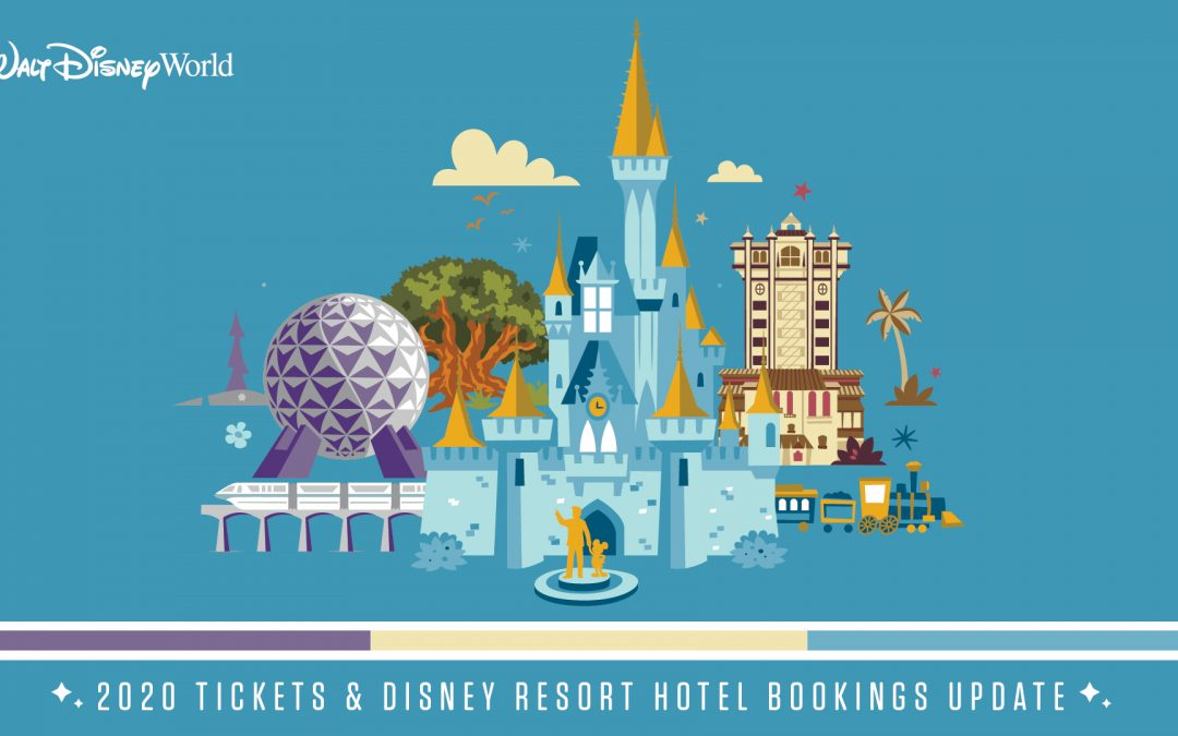 Disney Resort hotel bookings, packages and ticket sales for 2020 resume!