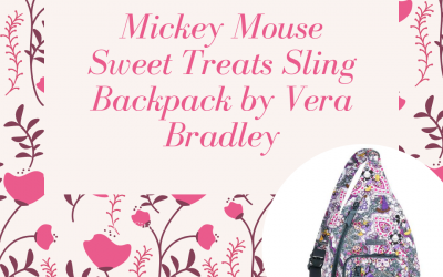 Win a Mickey Mouse Sweet Treats Sling Backpack by Vera Bradley